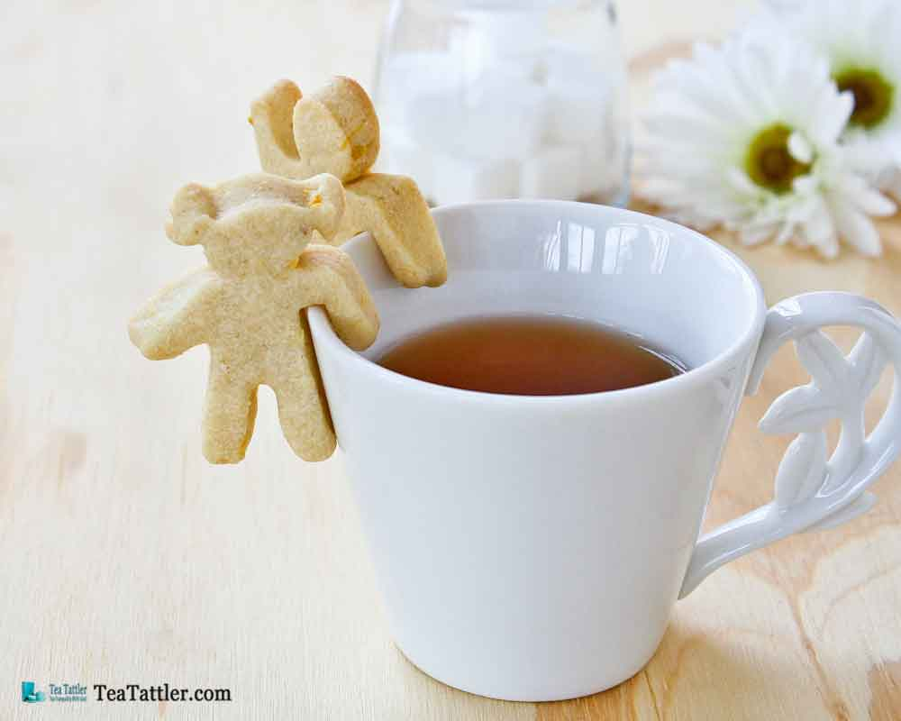 These fun and tasty cookies are able to cling to the side of your teacup or mug. A delight for all occasions. | TeaTattler.com #cupadorninglemoncookies #lemoncookies