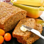 Spiced Kumquat Nut Bread with Gold Shimmer - a delicious tea bread fragrantly spiced with cinnamon, ginger, cloves, cardamom, and nutmeg. | TeaTattler.com #spicedbread #kumquatbread