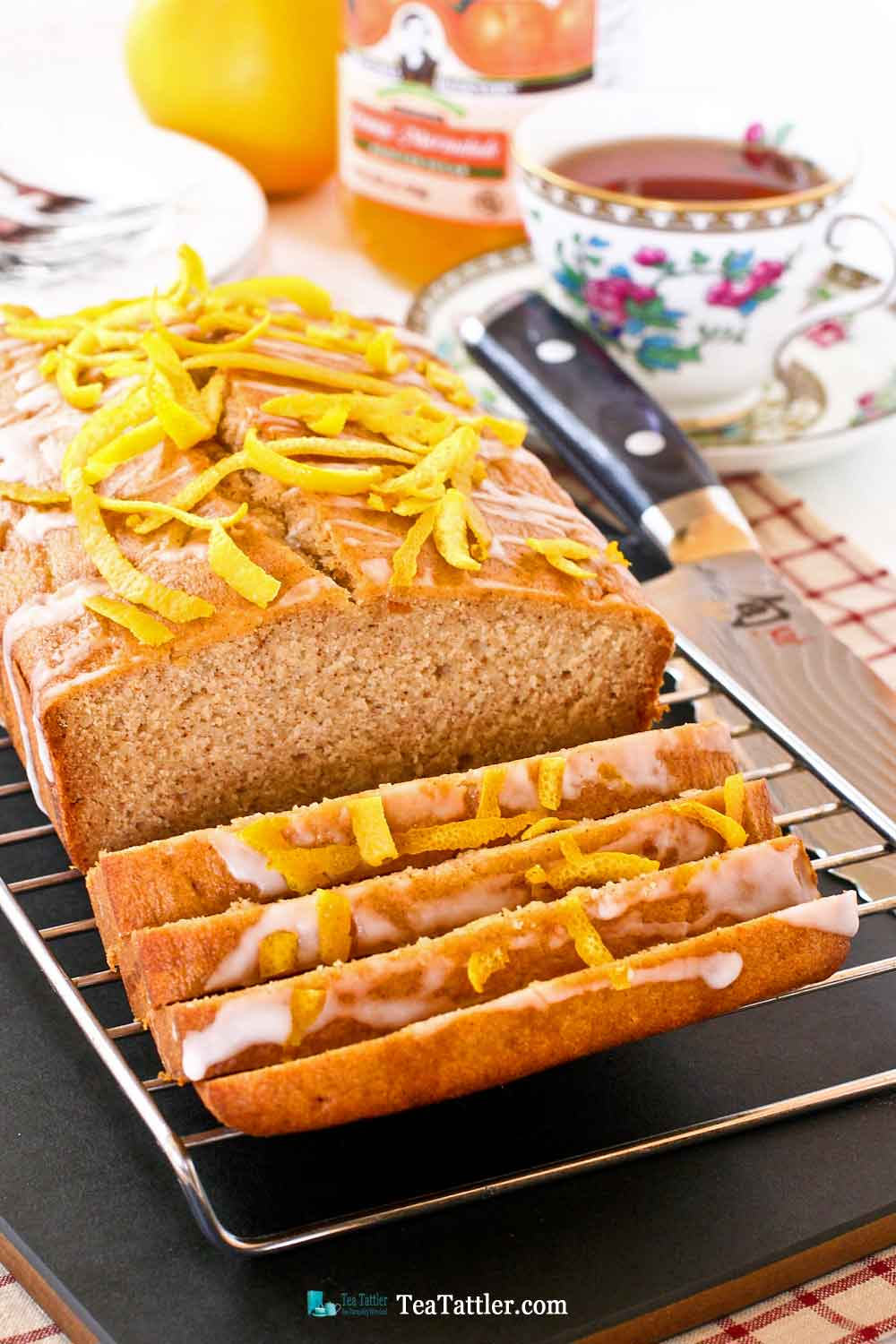 Marmalade Tea Cake - a fragrant and fine textured cake perfect with a cup of tea. The marmalade gives it a lovely flavor and keeps it moist. | TeaTattler.com #marmaladeteacake #marmaladecake #teacake
